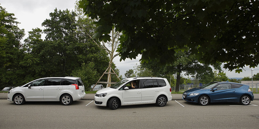 Sichtfeld nach vorne, VW Touran