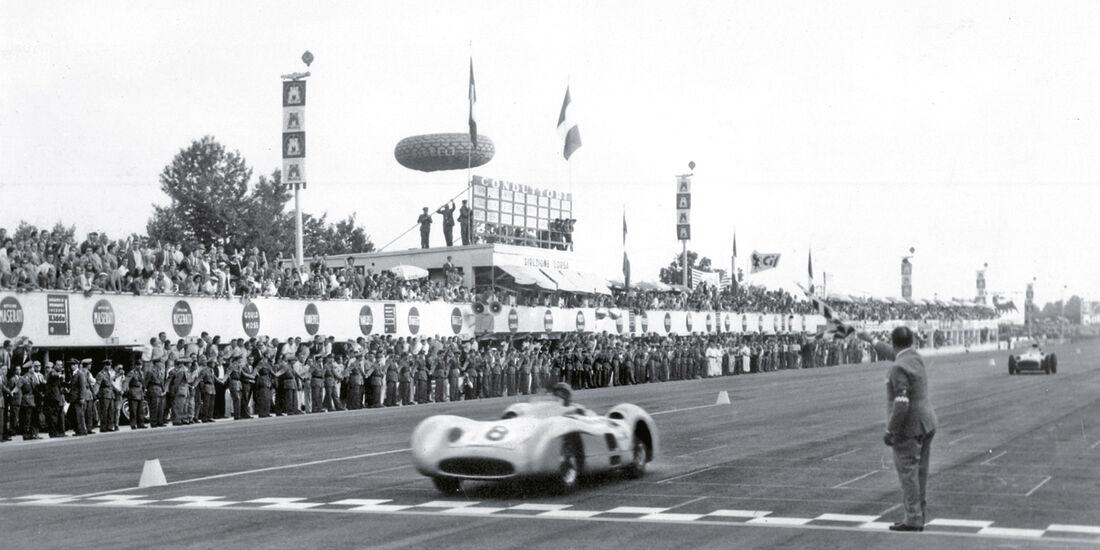 Sieg, Zieldurchfahrt, Monza, Fangio