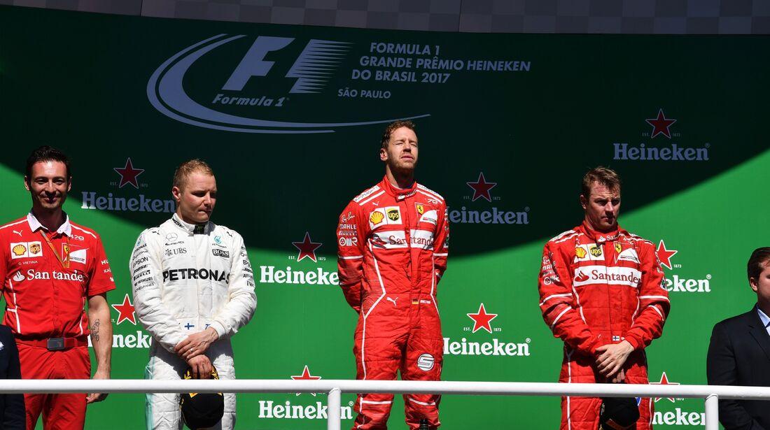 Siegerehrung - Formel 1 - GP Brasilien - 12. November 2017