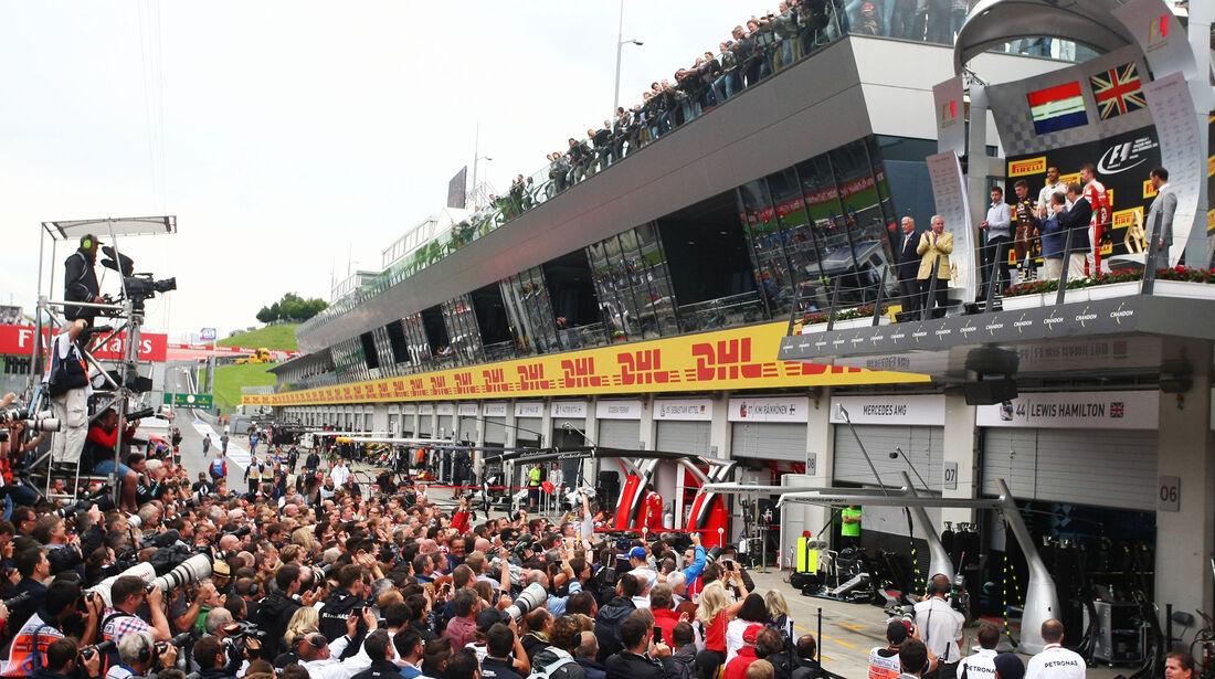Siegerehrung - Formel 1 - GP Österreich - 3. Juli 2016