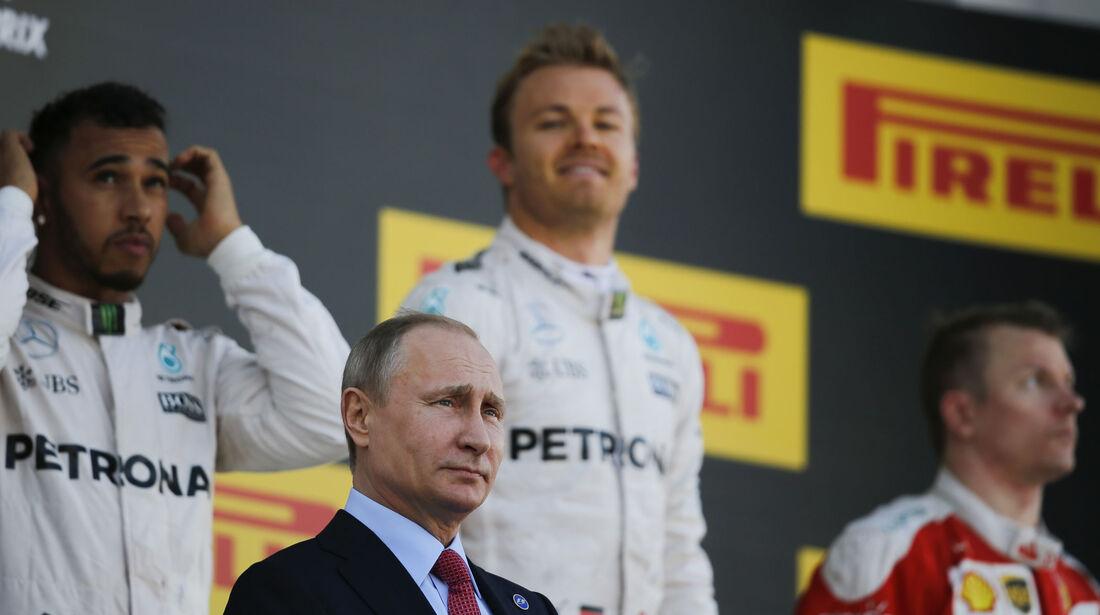 Siegerehrung - Formel 1 - GP Russland - 1. Mai 2016