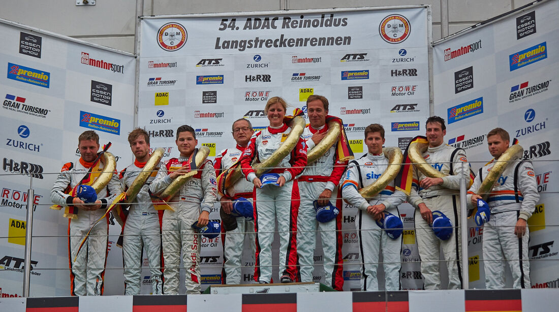 Siegerehrung - VLN Nürburgring - 5. Lauf - 5. Juli 2014