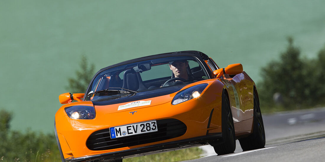 Silvretta E-Auto 2010, Elektroauto, E-Auto, Tesla Roadster