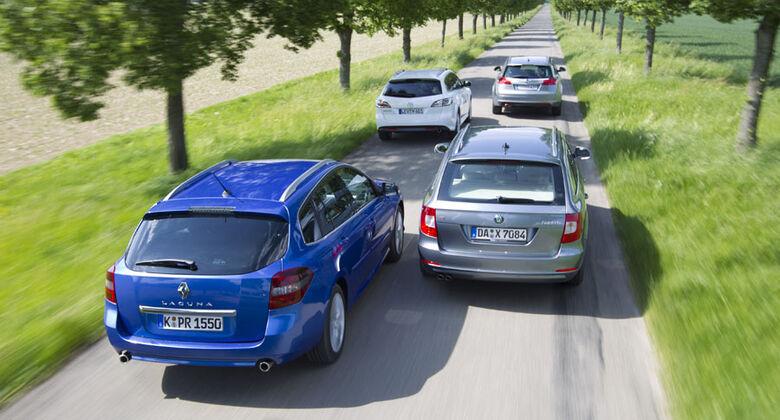 Skoda Superb, Mazda 6 Kombi, Renault Laguna Grandtour, Opel Insignia Sports Tourer