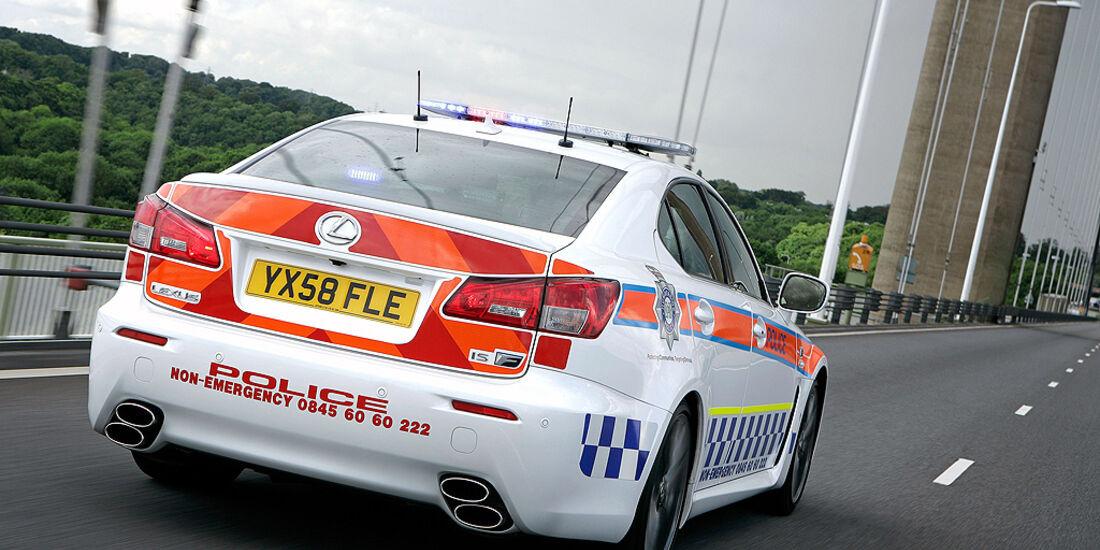 Skurrile Polizeiautos, Streifenwagen, Lexus IS-F