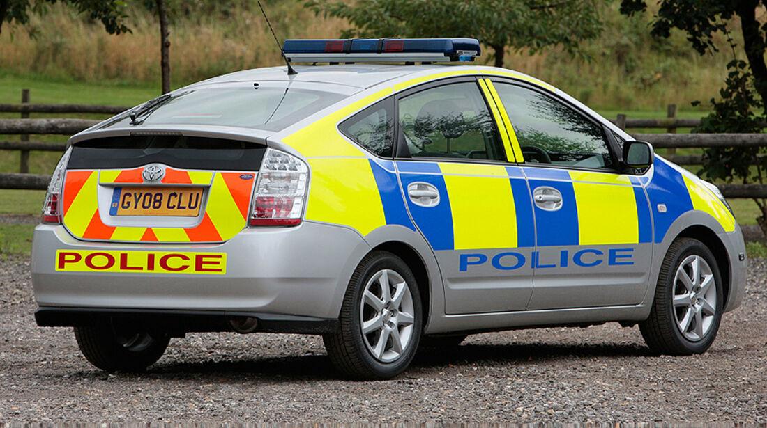 Skurrile Polizeiautos, Streifenwagen, Toyota Prius