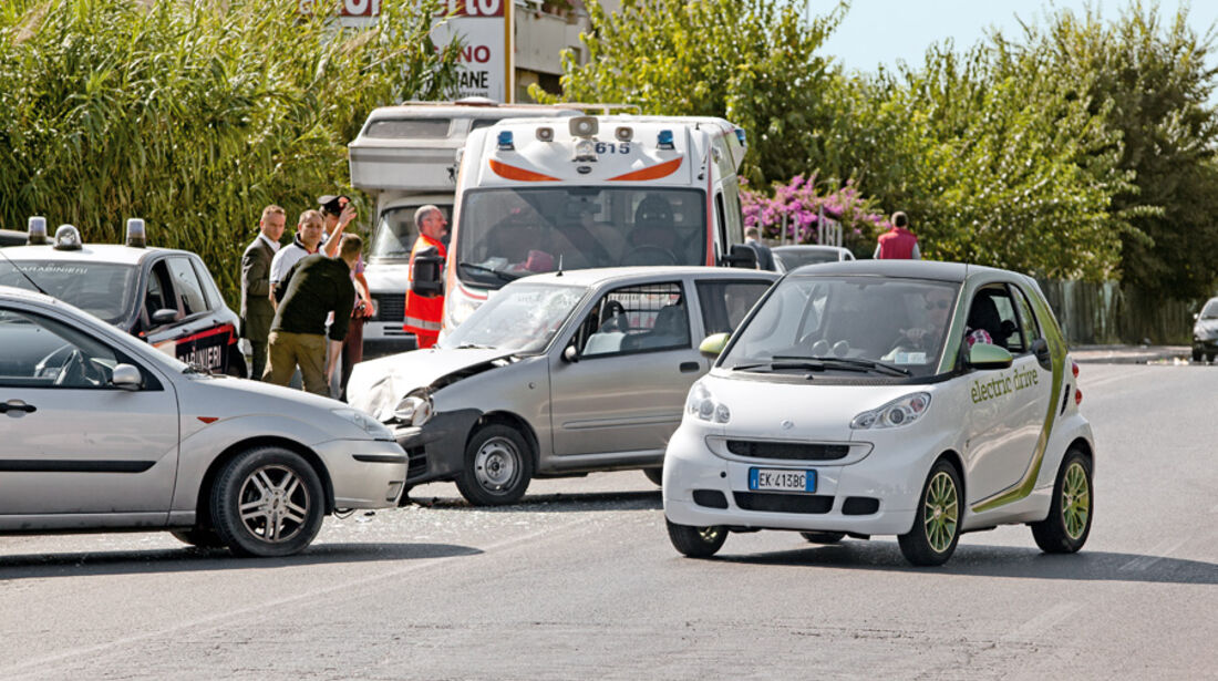 Smart Fortwo ED, Rom, Unfall
