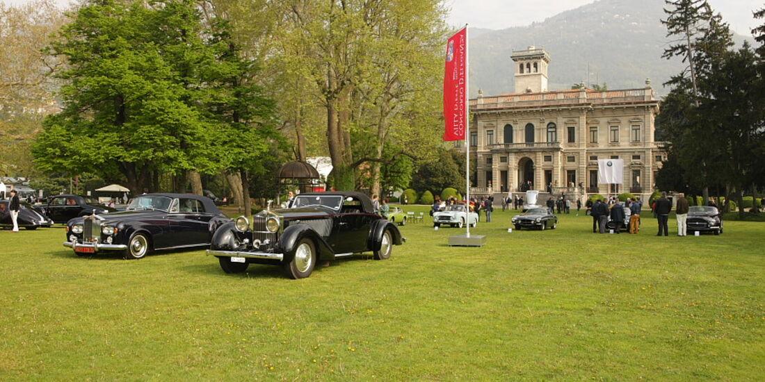 Sonderschau Rolls-Royce Cabrios bei der Villa Erba Villa d'Este 2010.