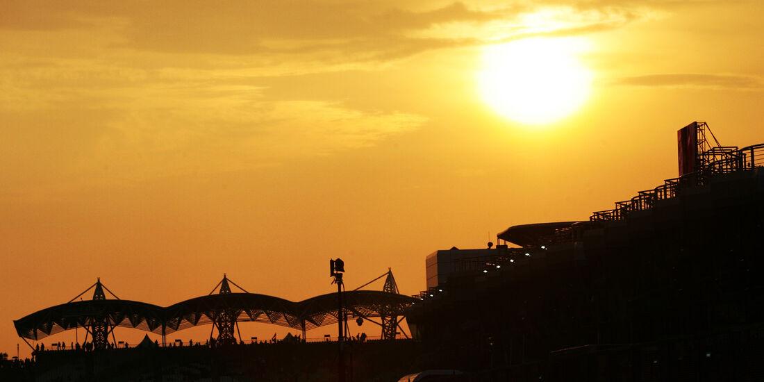 Sonnenuntergang GP Malaysia 2012
