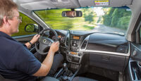 SsangYong Korando e-XDi 200, Cockpit, Fahrersicht