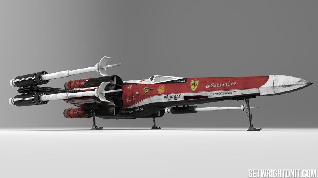 Star Wars X-Wing im F1-Design - Ferrari