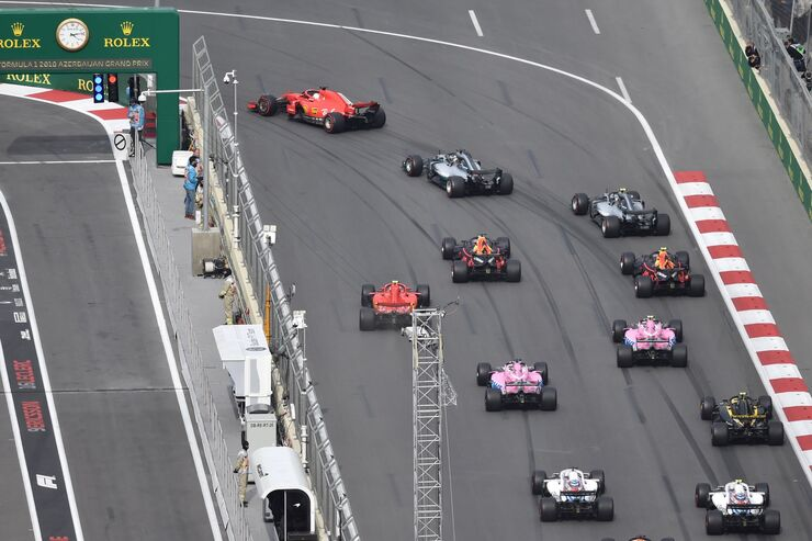 Start - Formel 1 - GP Aserbaidschan - 29. April 2018