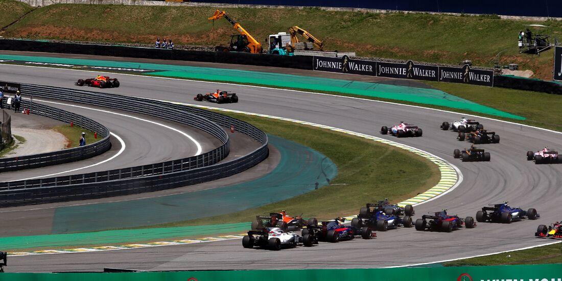 Start - Formel 1 - GP Brasilien - 12. November 2017