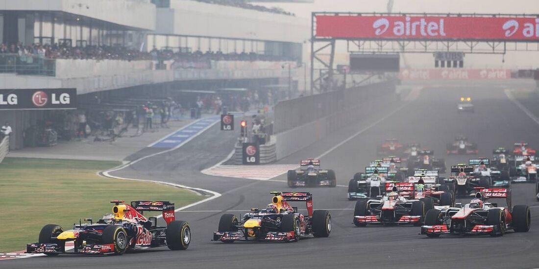 Start  - Formel 1 - GP Indien - 28. Oktober 2012