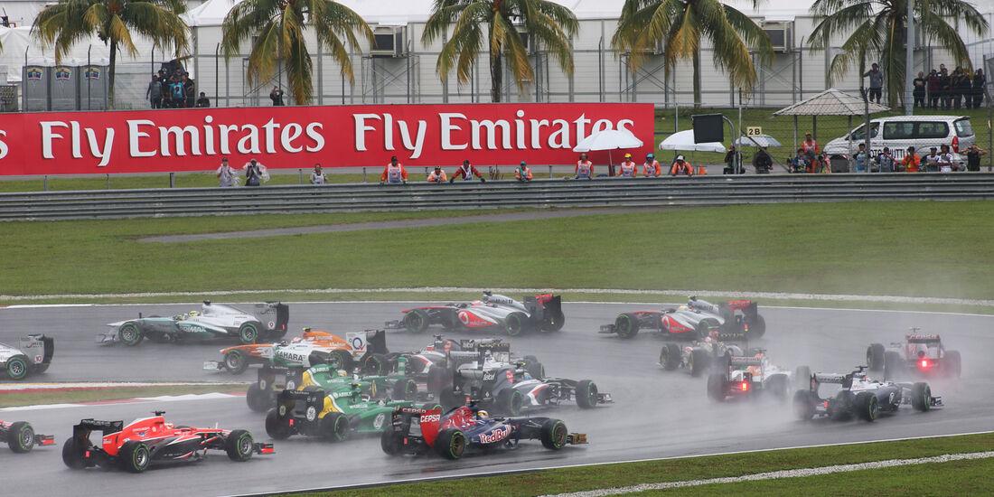 Start - Formel 1 - GP Malaysia 2013