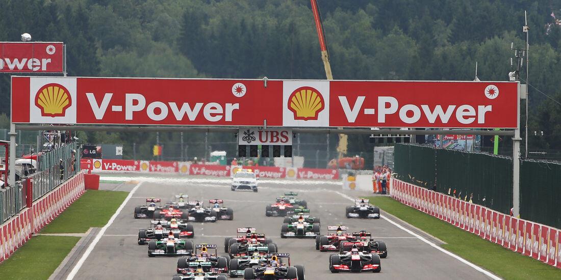 Start - GP Belgien 2013