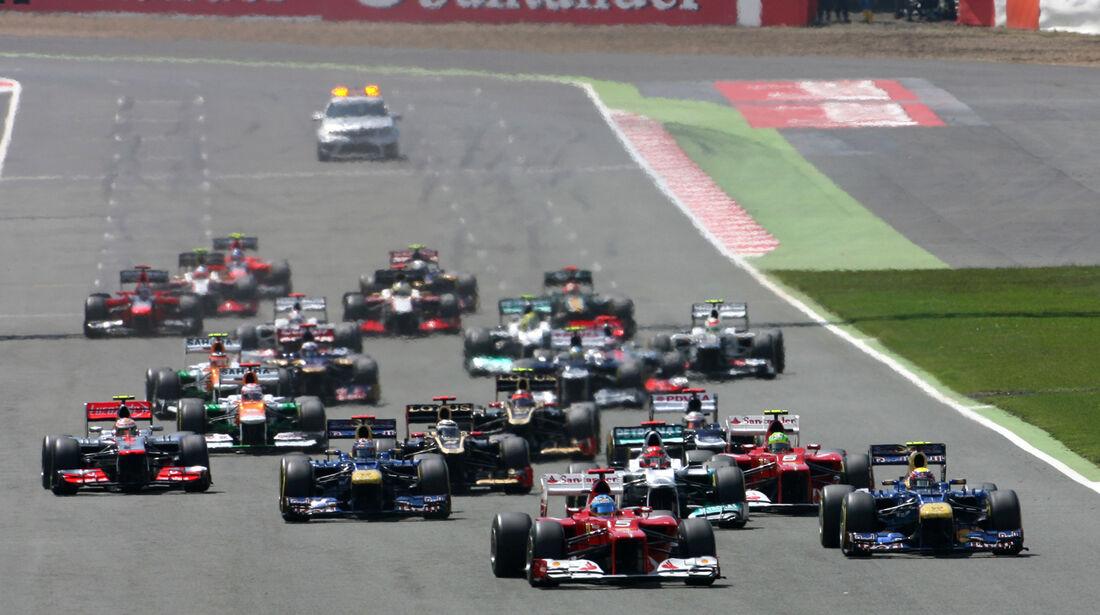 Start GP England Silverstone 2012