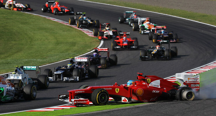 Start GP Japan Fernando Alonso 2012