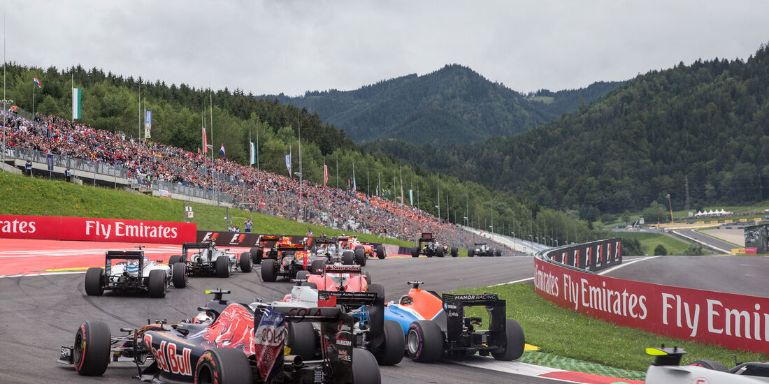 Start - GP Österreich 2016