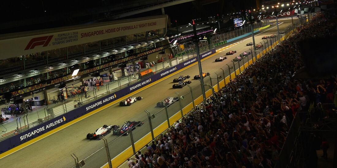 Start - GP Singapur 2018