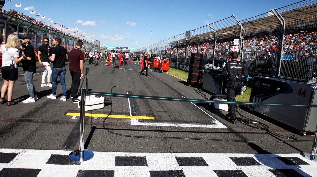 Startaufstellung - GP Australien 2018 - Melbourne - Rennen