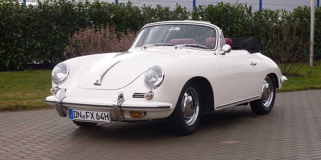 Startnummer 100: Werner Reifferscheidt und Michael Reiher im Porsche 356 SC, 1,8 Liter, 4-Zyl. Boxer, 95 PS, Baujahr 1964, United Charity.