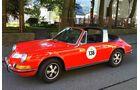 Startnummer 120: Christian Hupertz und Uli Fischer im Porsche 911 T, 2 Liter, 6-Zyl. Boxer, 110 PS, Baujahr 1969.