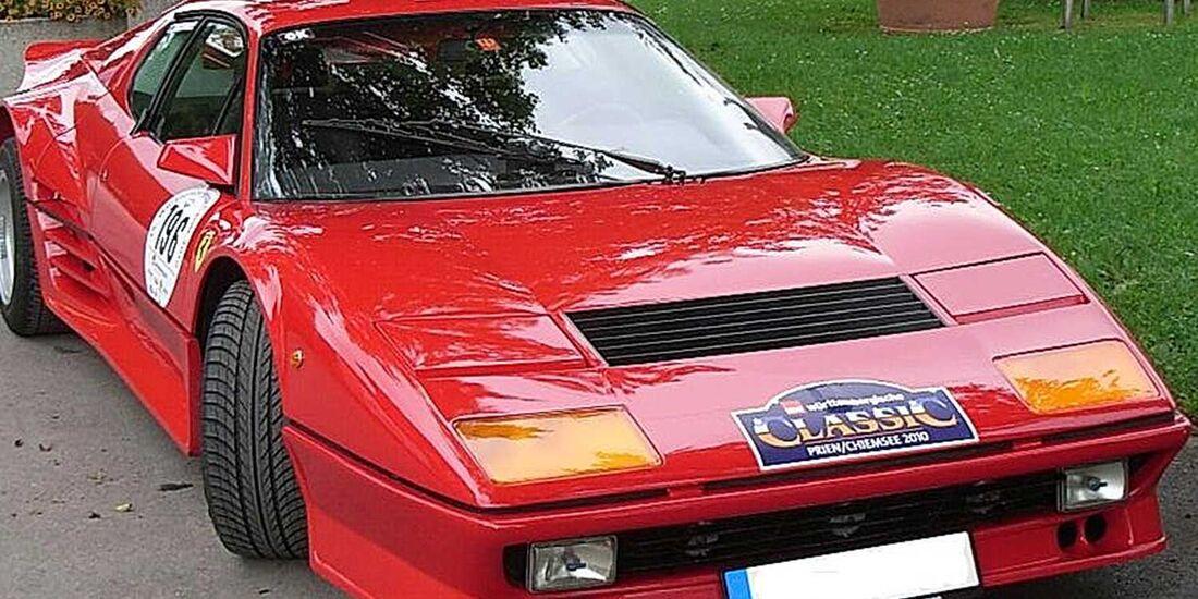 Startnummer 147: Horst Kespohl und Silke Paul im Ferrari 512, 4,9 Liter, V12, 340 PS, Baujahr 1977.