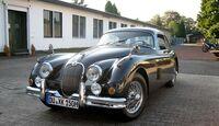 Startnummer 82: Horst Brühmann und Heinz Rudolf im Jaguar XK150 FHC, 3,8 Liter, 6-Zyl. Reihe, 210 PS, Baujahr 1959, Scuderia ZEN.