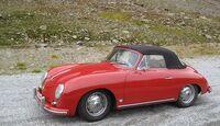 Startnummer 83: Peter und Andrea Schöffel im Porsche 356 A Convertible D, 1,6 Liter, 4-Zyl. Boxer, 85 PS, Baujahr 1959.
