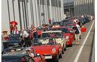 Stau auf den Zufahrtsstraßen zur Alfa-Feier