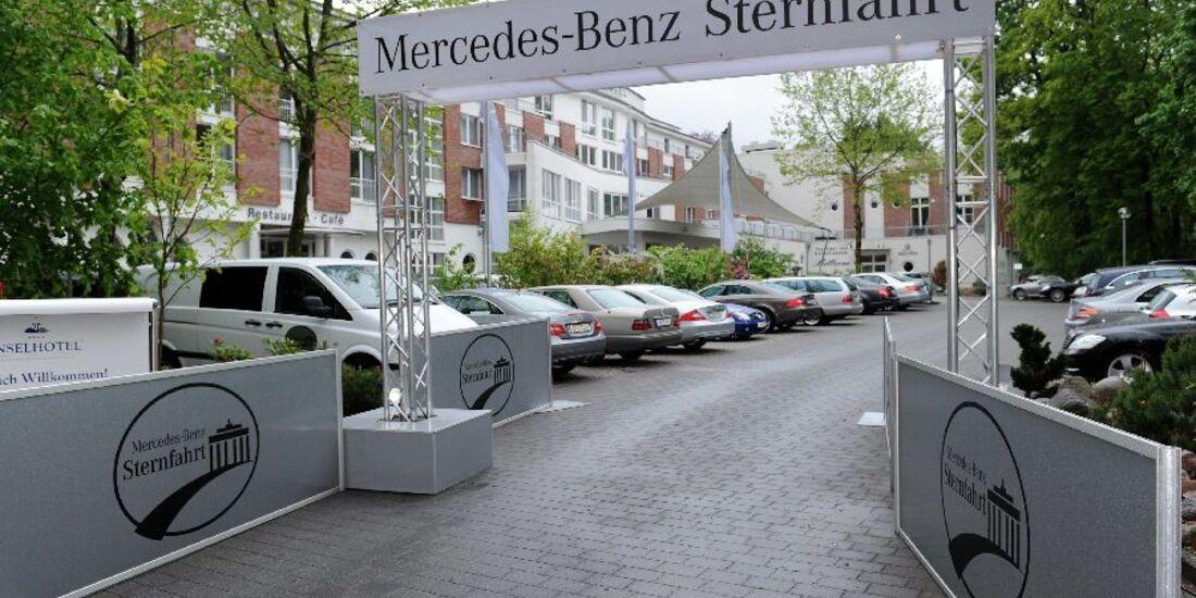 Stern-Fahrt Parkplatz