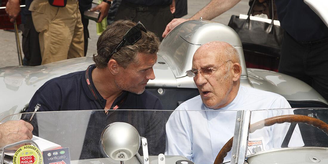 Stirling Moss und David Coulthard im Mercedes-Benz 300 SLR.