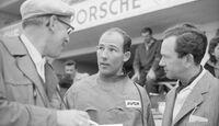 Stirling Moss, von Hanstein, Ferry Porsche