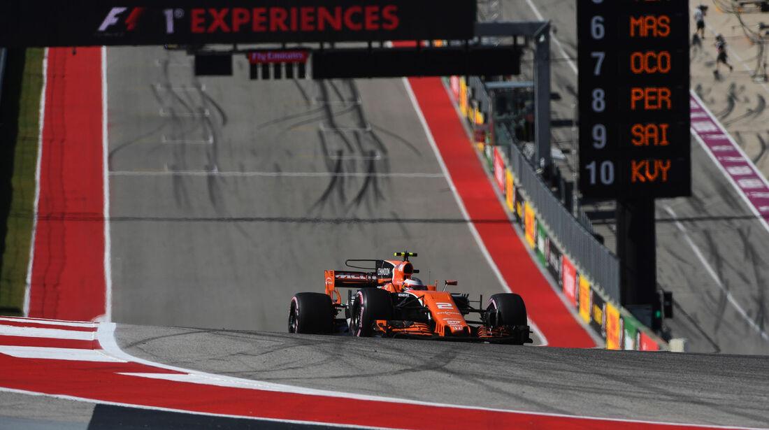 Stoffel Vandoorne - McLaren-Honda - GP USA 2017 - Rennen