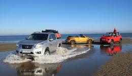 Strandautos, Strand, Impression