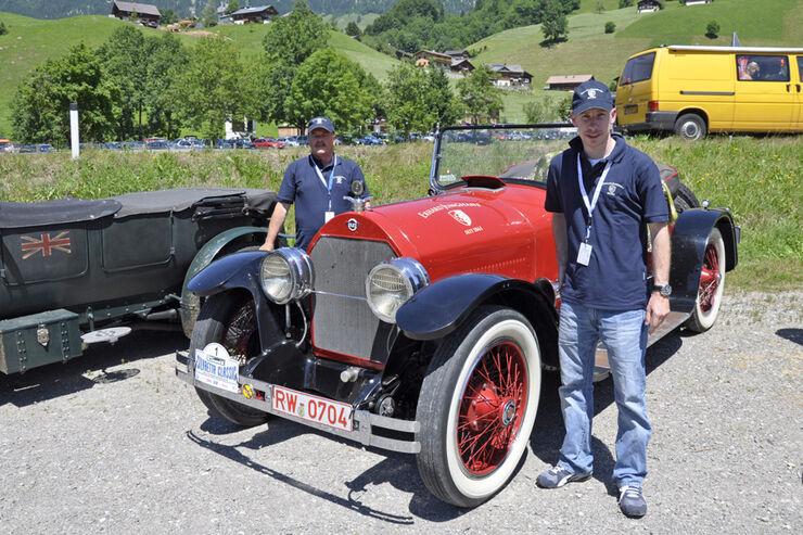 Stutz Bearcat bei der Silvretta Classic 2010 - Hannes Steim und Adolf Heitzmann