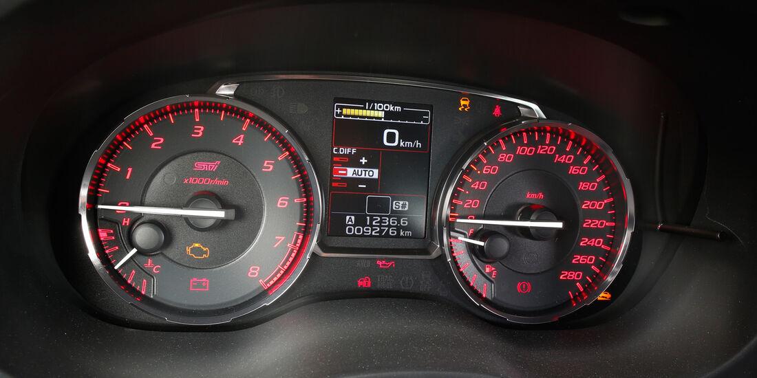 Subaru WRX STI, Rundinstrumente