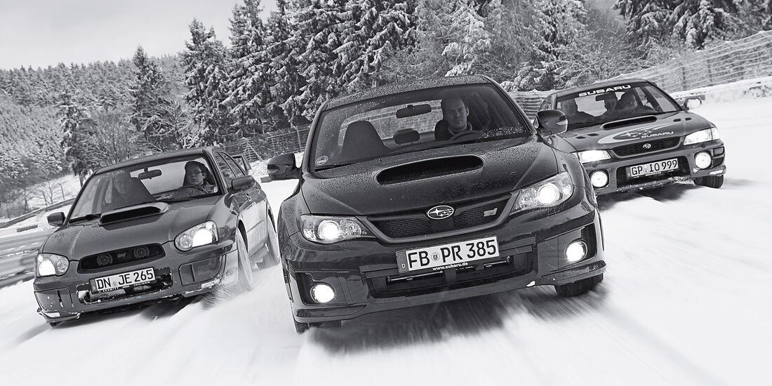 Subaru WRX STI, Wintertest