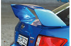 Subaru WRX Sti, Heckspoiler, Heckschürze