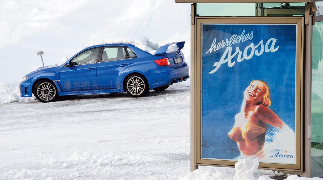 Subaru WRX Sti, Seitenansicht, Arosa