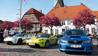 Subaru WRX Sti, Tesla Roadster, Frontansicht