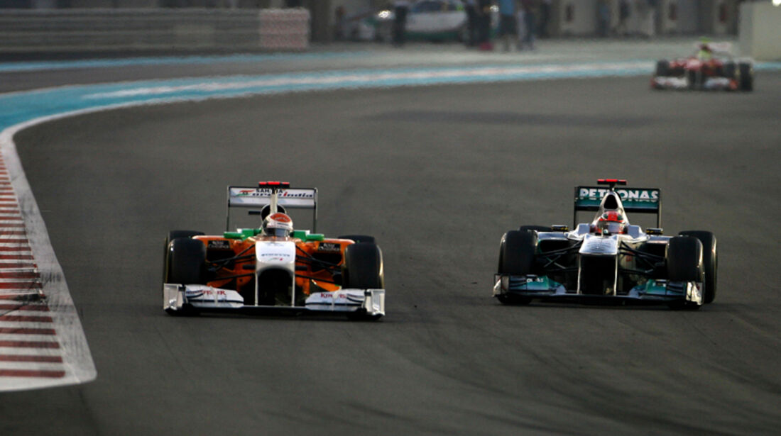Sutil vs. Hamilton GP Abu Dhabi 2011