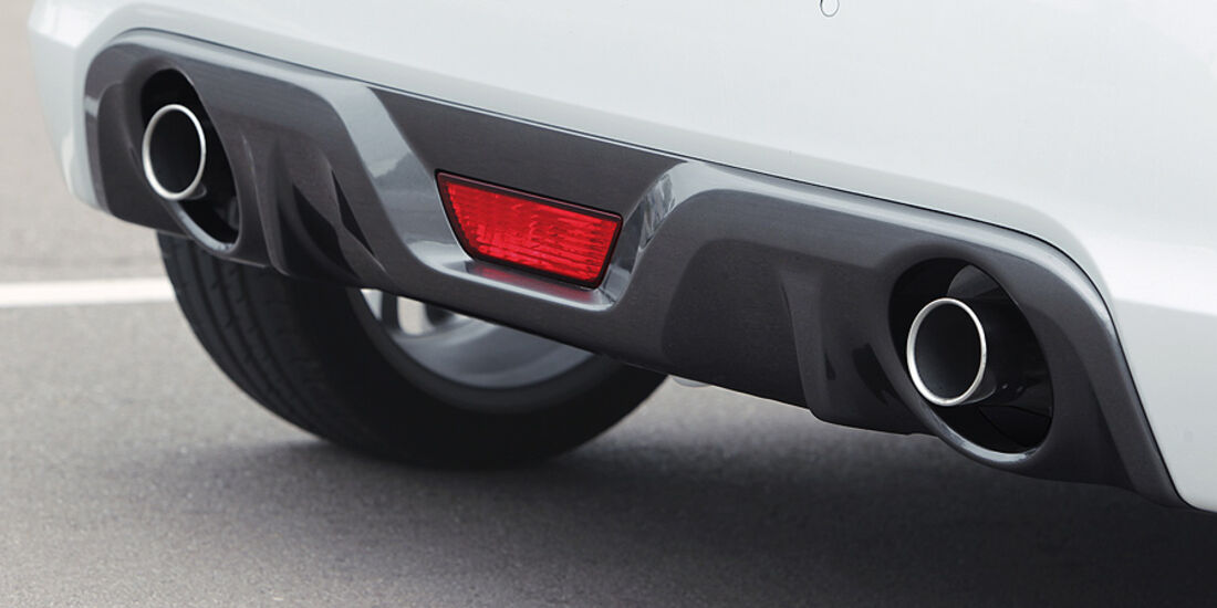 Suzuki Swift Sport, Auspuffendrohre