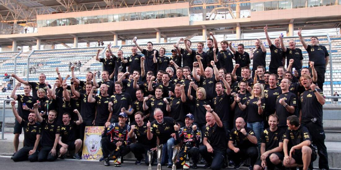 Teamfeier Red Bull - Formel 1 - GP Korea - 16. Oktober 2011