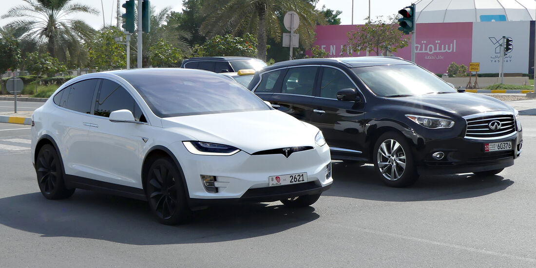 Tesla Model X - Carspotting - GP Abu Dhabi 2018