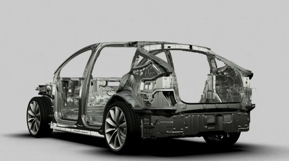 Tesla Model X Rahmen