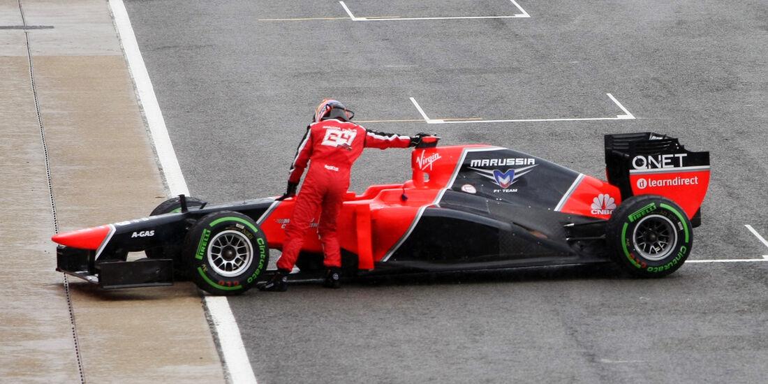 Timo Glock Marussia GP England 2012