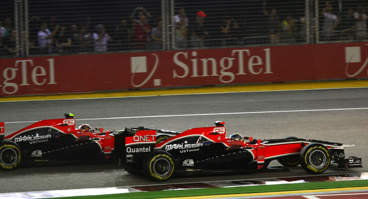 Timo Glock Virgin GP Singapur 2011