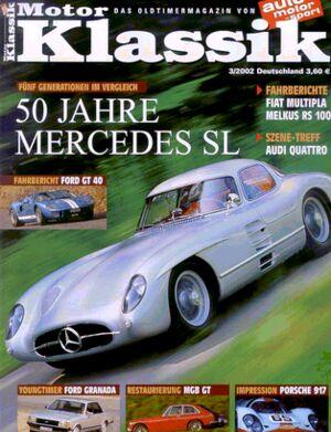 Titel Motor Klassik, Heft 03/2002